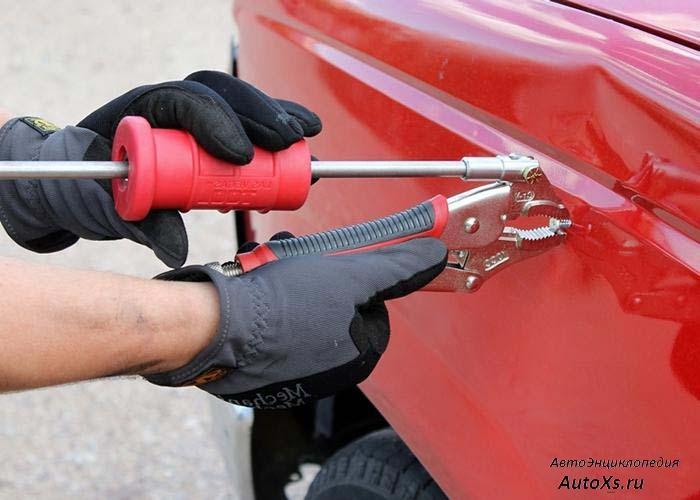 ТОП-3 способа как устранить вмятину на автомобиле (+видео)